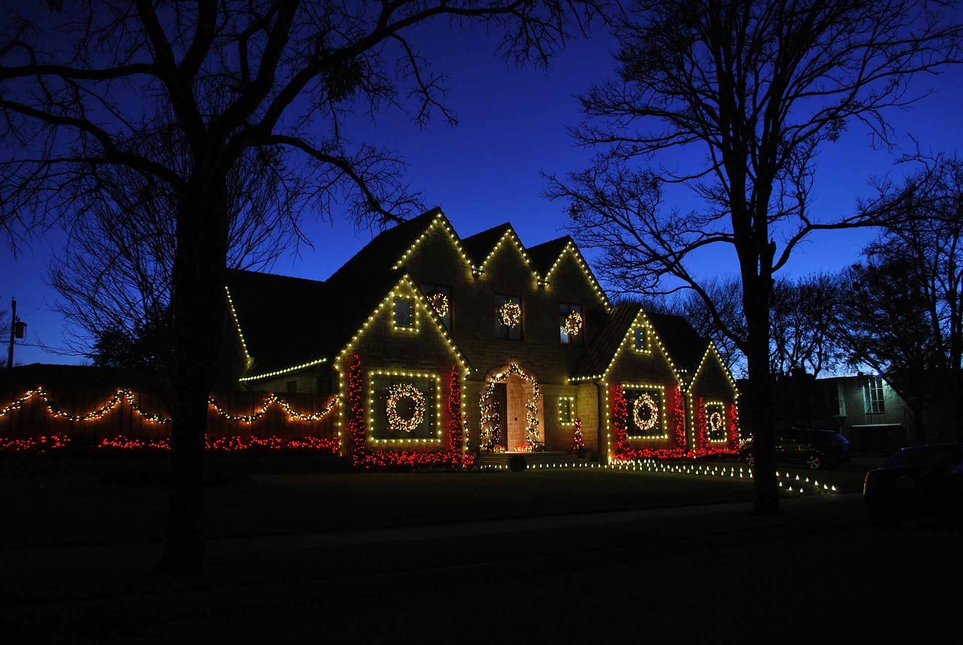 Led christmas lighting display the outdoor lighting expert this aloadofball Image collections