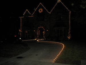 With Christmas Light Design as well as Landscape design it's best to get an overall picture of what you want your display to look like in the years to come. For instance, let say the design you want cost $2000, but you don't have that much money to spend right now--no problem. Design the Christmas Lighting display you want now and spend what you can when you can with the overall end result in mind. The likes are cut and spliced according to the lines of your house, making it easy to add new runs.