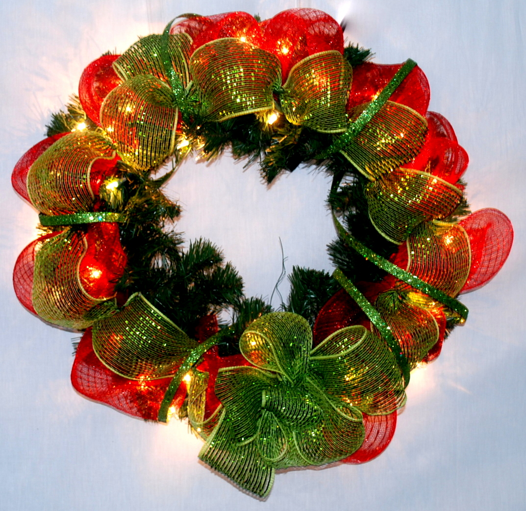 Large outdoor lighted christmas wreaths thousands pictures of home wreath bows garland bows and tree bows dallas plano aloadofball Images
